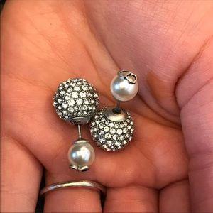 Dior crystal tribal earrings